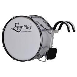 """Ever Play - Bęben marszowy 24"""" x 12"""" biały BG405D"""