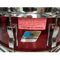 """Ludwig - werbel akrylowy Vistalite 14"""" x 5.5""""  Red Vintage"""