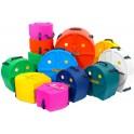 Hardcase - Zestaw case'ów Jazz 10 12 14 14 20 - Colour Mix