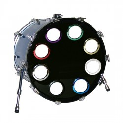 Holz - zabezpieczenie Bass Drum' Os - Silver 4''