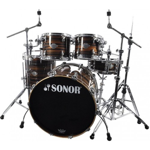 Sonor - perkusja Ascent Stage 2 Ebony Stripes Shellset