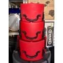 Hardcase - Zestaw case'ów Fusion TOMPACK 10 12 14  - Red