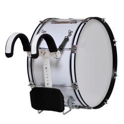 MES - Bęben marszowy z nosidłem MMX 24''x12'' - biały