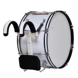 MES - Bęben marszowy z nosidłem 26''x12'' - biały