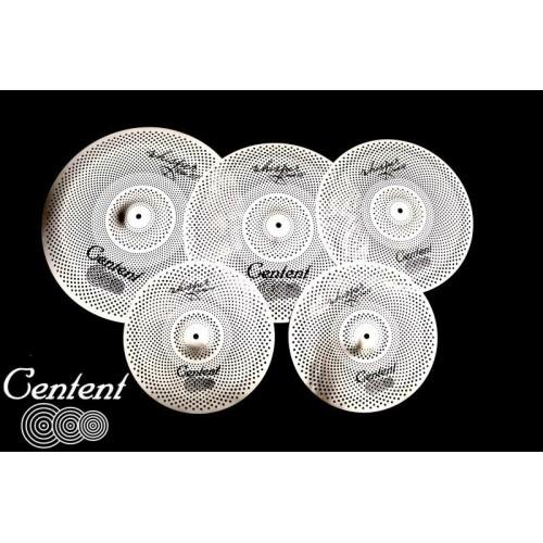 """Centent Cymbals - Zestaw cichych talerzy RVC Whisper (Low Volume) 14"""" 16"""" 18'' 20"""""""
