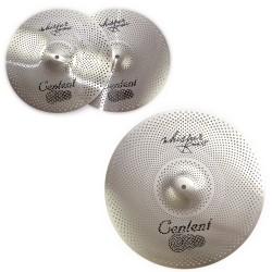 """Centent Cymbals - Zestaw cichych talerzy RVC Whisper (Low Volume) 14"""" 18''"""