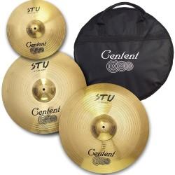 """Centent Cymbals - Zestaw talerzy STU 14"""" 18"""" 20"""" + pokrowiec"""