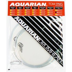 "Aquarian - naciągi Response 2 Clear Tom Pak 10 12 14 + Texture Coated 14"" RSP2-A"
