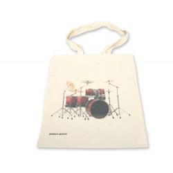 Zebramusic - torba Eco bawełniana z motywem perkusji