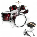 Ever Play - perkusja dla dzieci Junior Kit JBJ-1046 Red Sparkle