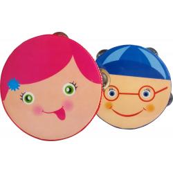 """Mes -  tamburyn dziecięcy 4"""" - Dziewczynka"""