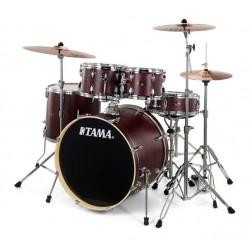 "Tama - perkusja Imperialstar 20""  IE50KH6W Burgundy Walnut + talerze Meinl"