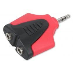 Roxtone - redukcja wtyku mini jack-2x mini jack gniazdo RPAN360