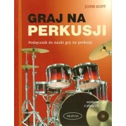 Scott Justin - książka z CD  ''Graj na perkusji''