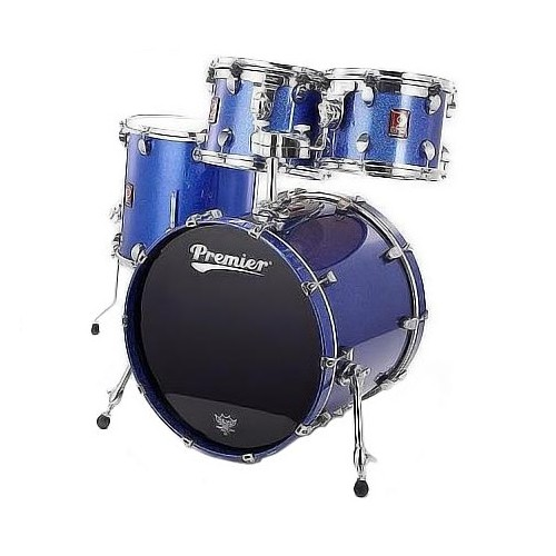 "Premier - Classic Maple Rock Shellset 22"" - Norwegian Blue Sparkle"