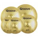 "Groove Cymbals - Zestaw cichych talerzy Mute Gold 14"" 16"" 18'' 20"""