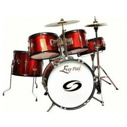 Ever Play - perkusja dla dzieci Junior Kit Pro - Metallic Red