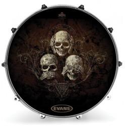 Evans - Naciąg rezonansowy Inked - No Evil 22''