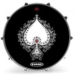 Evans - Naciąg rezonansowy Inked - Spade Tattoo 20''