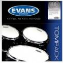 Evans - naciągi G2 Clear TomPack Rock zestaw 10'' 12'' 16''