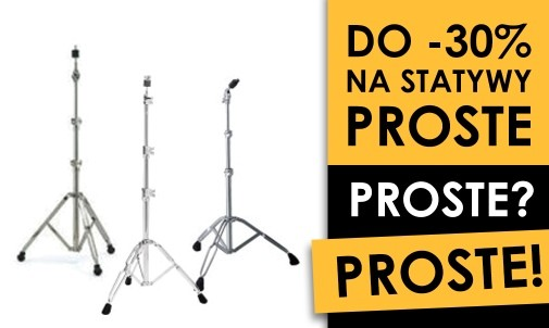 Wyprzedaż statywów prostych w drumshop.pl