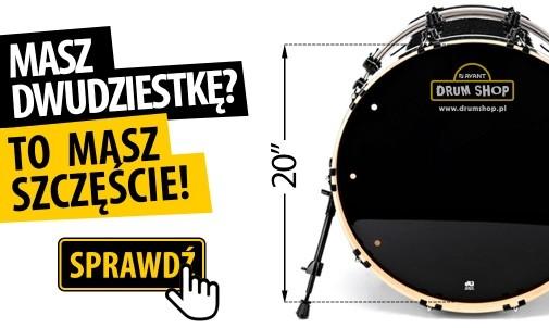 "Super Promocja na naciągi 20"" w drumshop.pl"