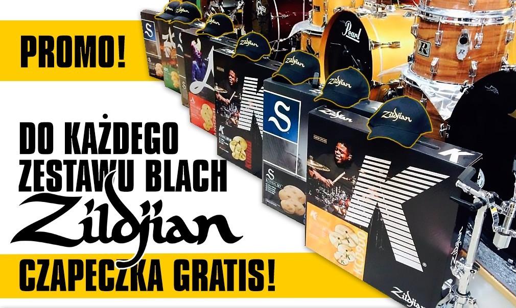 Do każdego zestawu blach Zildjian czapeczka GRATIS!