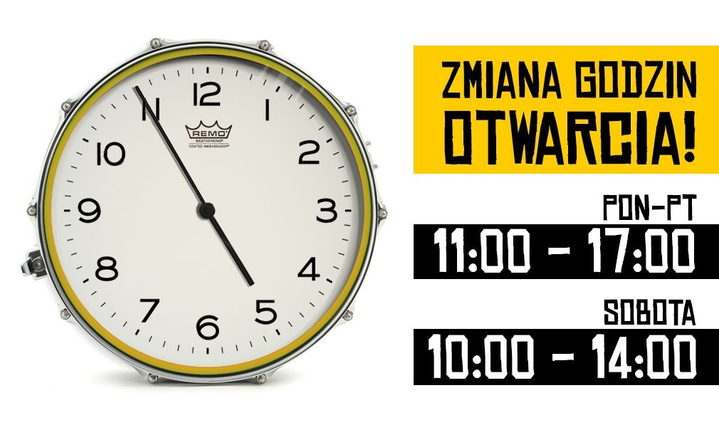 Nowe godziny otwarcia pon- pt. Od 11:00 do 17:00