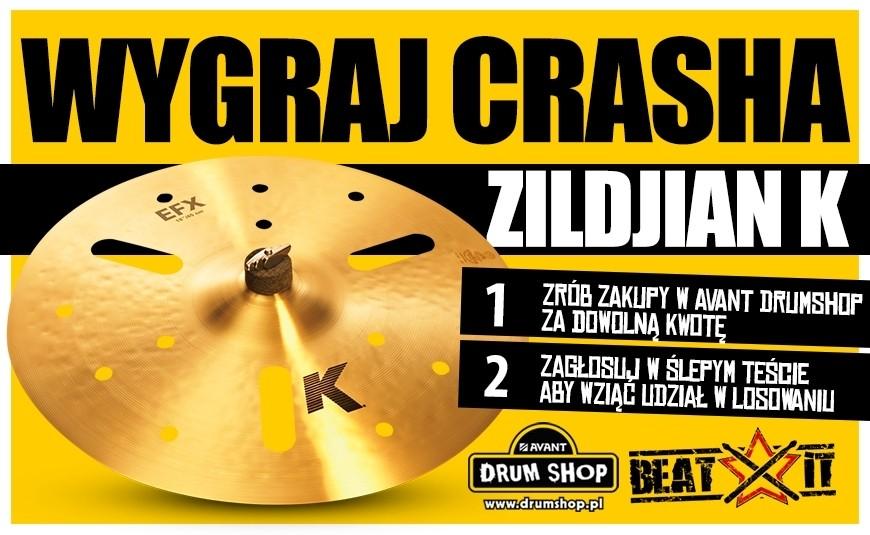 """Weź udział w konkursie i wygraj crasha Zildjian K 16""""!"""